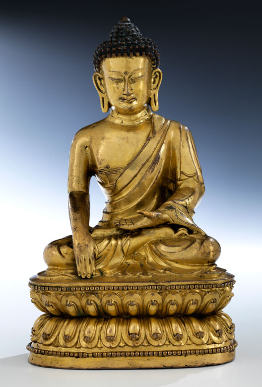 † Bedeutende Bronzefigur des Buddha