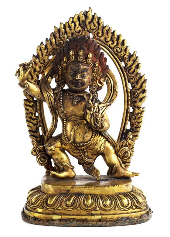 † Bronzefigur eines tanzenden Vaijrapani