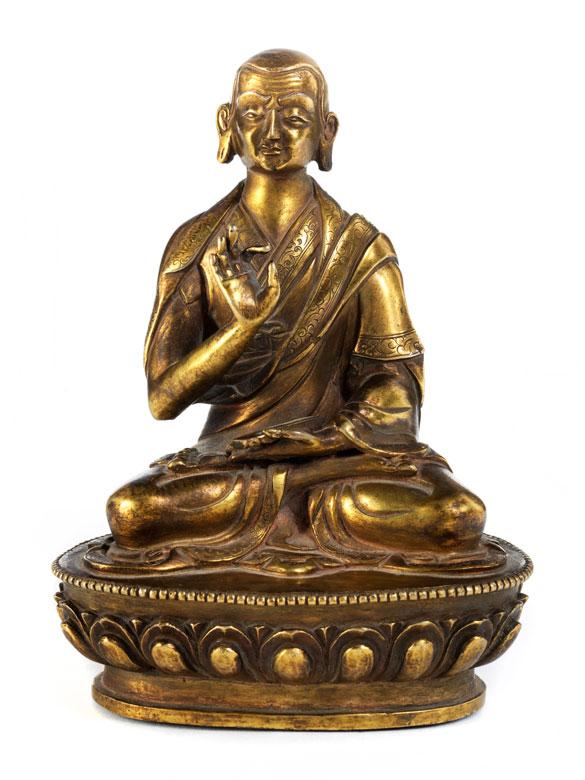Bronzefigur eines Lama