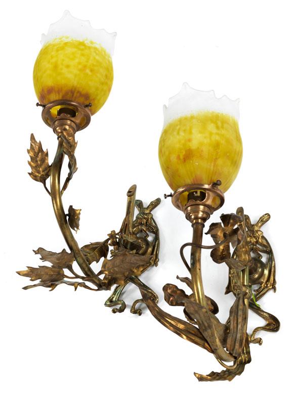 Paar Jugendstil-Wandlampen