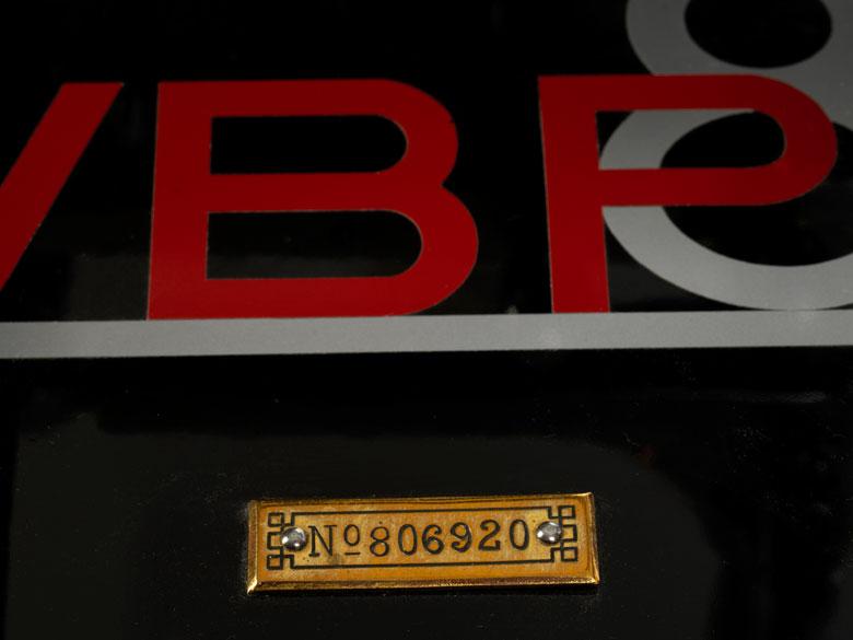 """Detailabbildung: Große Berkel-Schneidemaschine """"VBP 8"""", nummeriert """"No 806920"""""""