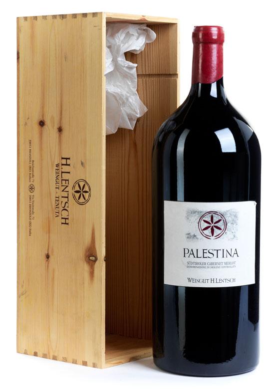 Methusalemflasche Palestina von Weingut H. Lentsch, Jahrgang 2003