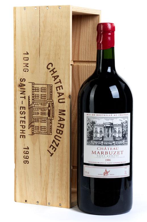Doppelmagnumflasche Saint-Estephe von Château Marbuzet, Jahrgang 1996