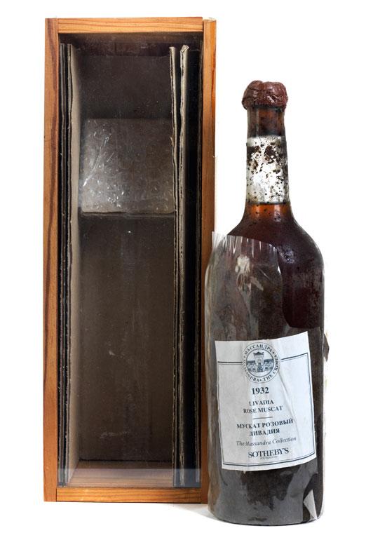 Flasche Livadia Rosé Muscat The Massandra Collection, 1932