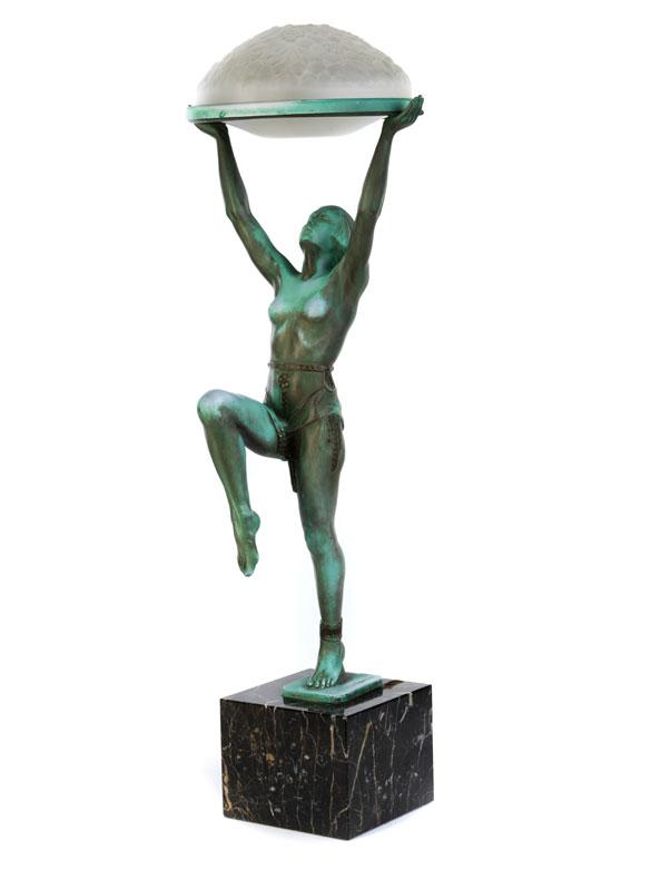 """Art déco-Tischlampe """"Danseuse a la Coupe"""""""