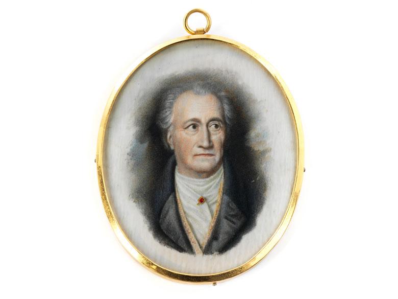 Miniatur Johann Wolfgang von Goethe