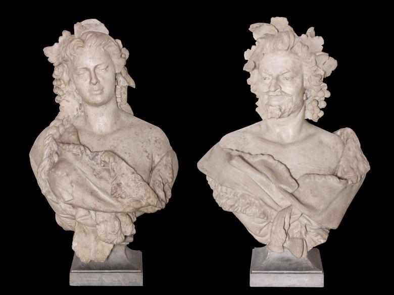 Paar Marmorbüsten
