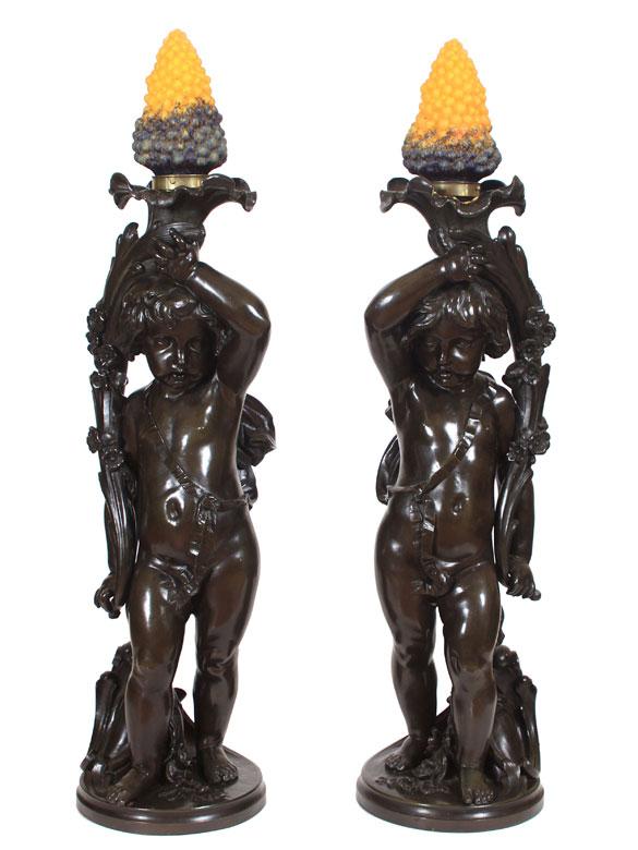 Paar Lampen mit Putto