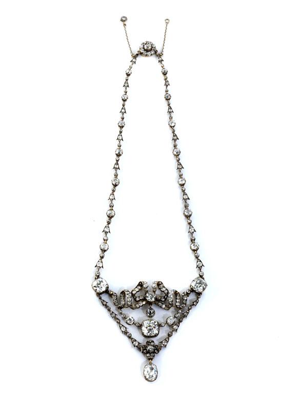 Seltenes antikes Diamantcollier