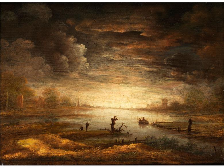 Holländischer Maler des 17./ 18. Jahrhunderts in Art des Aert van der Neer, 1603 Gorinchem - 1677 Amsterdam