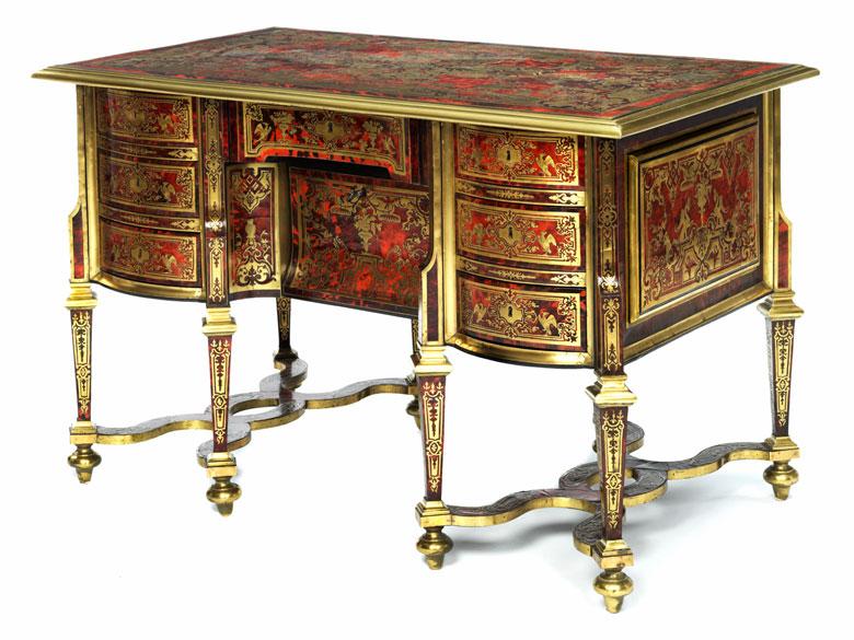 museales louis xiv bureau mazarin in boulle technik nicolas sageot 1666 1731 zug hampel. Black Bedroom Furniture Sets. Home Design Ideas