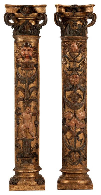 Paar Renaissance-Halbsäulen
