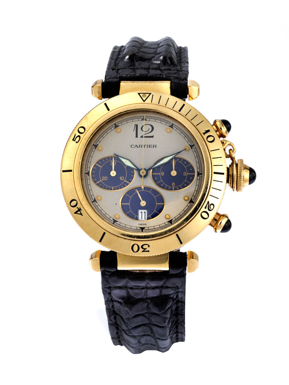 "CARTIER Chronograph ""Pasha"" in Gold"