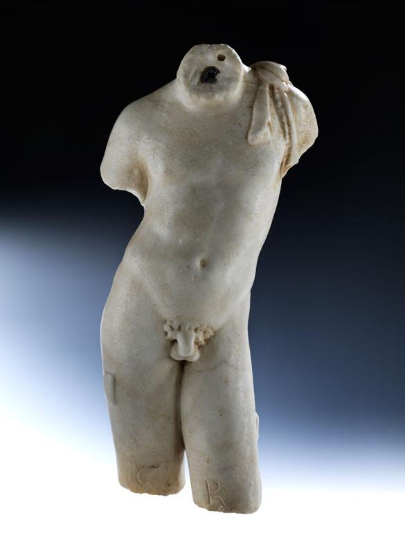 Marmortorso eines Jünglings, aus dem Umkreis Canova