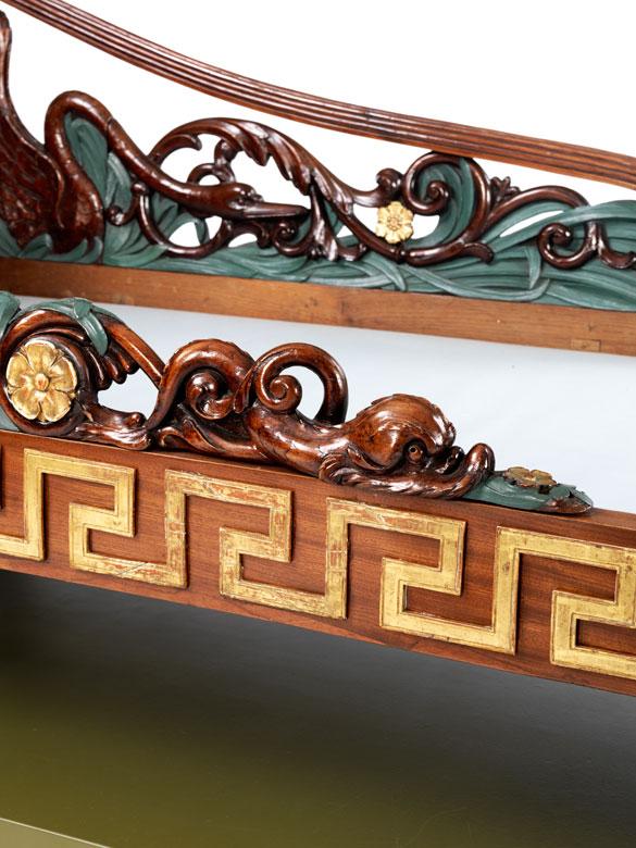seltenes empire bett mit schwanendekor hampel fine art. Black Bedroom Furniture Sets. Home Design Ideas