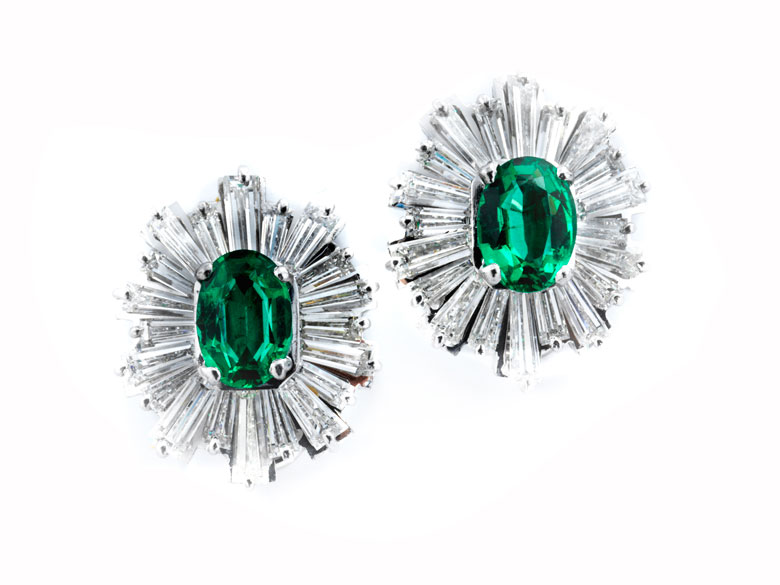 Smaragd-Diamantohrclipse