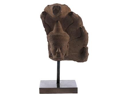 Buddhakopf-Relief
