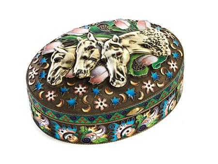 Moskauer Schatulle eines Pferdefreundes
