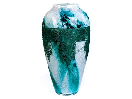 Glasvase von Legras