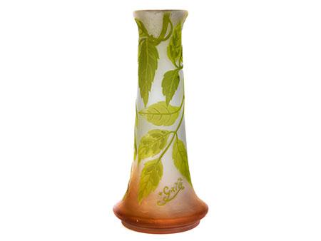 """Jugendstil-Vase, signiert """"Gallé"""""""