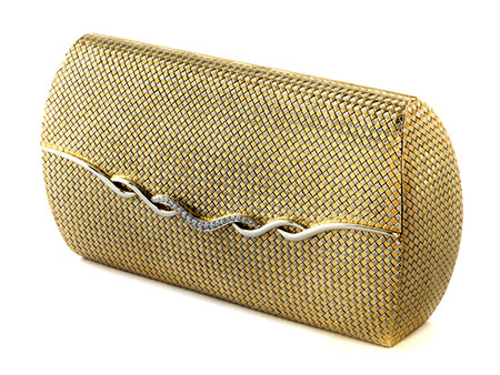 Gold-Brillantclutch von Bulgari