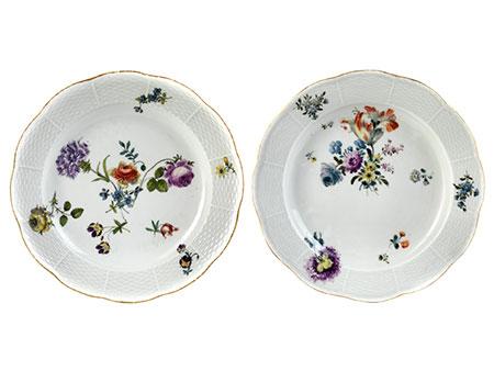 Paar Meißener Teller