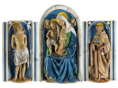 Musealer Majolika-Altar von Andrea Della Robbia, 1435 - 1525