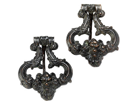 Paar Bronze-Türklopfer