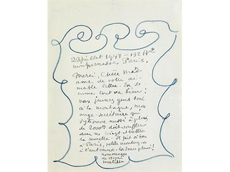 Henri Matisse, 1869 Le Cateau-Cambrésis - 1954 Nizza