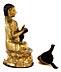 Detail images: † Vergoldete Bronzefigur eines Lama im Lotussitz