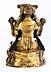 Detail images: † Bronzefigur einer sitzenden weiblichen Gottheit