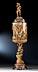 Detail images: Großer imposanter Elfenbein-Deckelpokal mit Silbermontierung