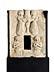 Detail images: Museale Tabernakelfront in Stein mit gemeißelten Hochrelieffiguren von flankierenden Engeln