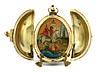 Detail images: Moskauer Cloisonné-Ei mit Ikone als Überraschung