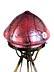 Detail images: Jugendstil-Tischlampe mit roséfarbenem Schirm