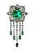 Detail images: Smaragd-Diamantbrosche von Van Cleef & Arpels