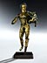 "Detail images: Museale, vergoldete Bronzestatuette eines ""Hermes Dionysophoros"""