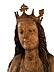 Detail images: Große spätgotische Schnitzfigur der Heiligen Barbara