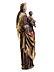 Detail images: Spätgotische Schnitzfigur einer Madonna mit Kind