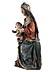 Detail images: Schnitzfigur einer thronenden Madonna mit dem Kind