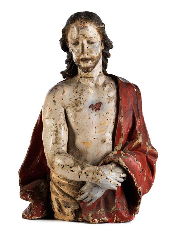 Schnitzbüste Geisselungschristus