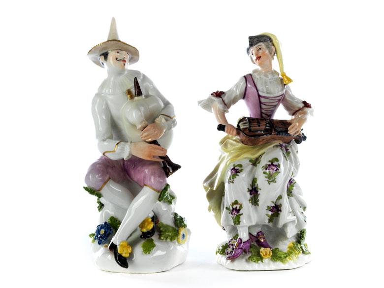 Paar seltene Meissener Figuren