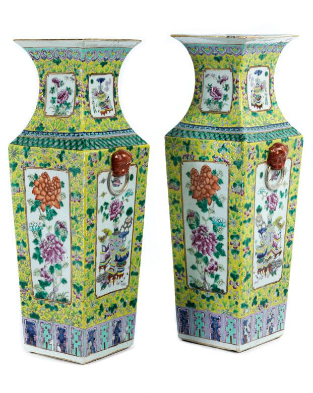 Paar Grosse Chinesische Bodenvasen Hampel Fine Art Auctions