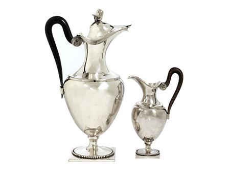 Paar Empire-Silberkannen