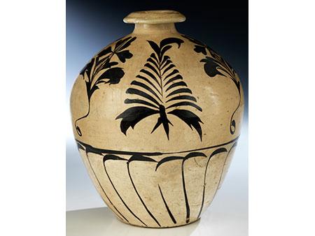 Bauchige Cizhou-Vase