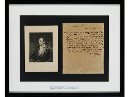 Brief von Antonio Canova (1757-1822) an Dominico Selva in Venedig