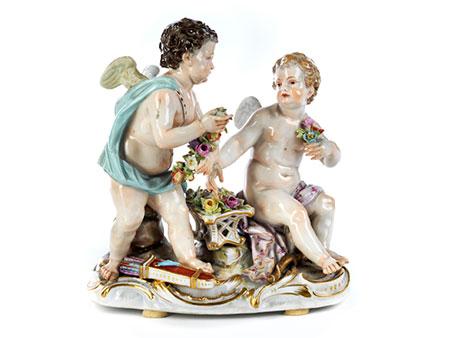 Meissener Porzellanfigurengruppe