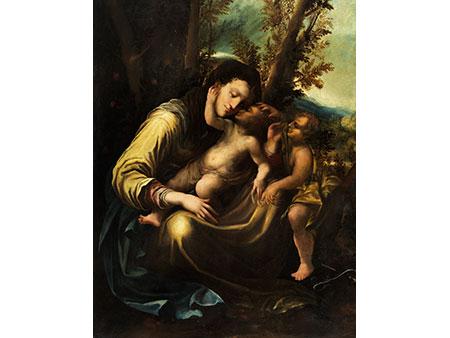 """Italienischer Maler des 16./ 17. Jahrhunderts, in der Nachfolge des Antonio Allegri, (genannt """"Correggio"""")"""