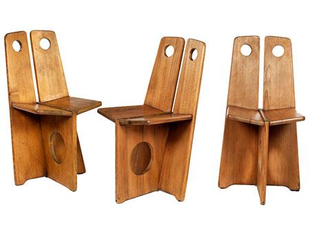 Drei Designerstühle