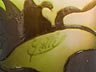 "Detail images: Glasvase mit Blütendekor, signiert ""Gallé"""
